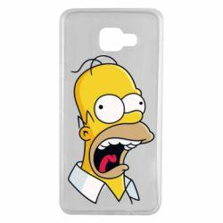 Чехол для Samsung A7 2016 Crazy Homer! - FatLine