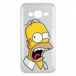Чехол для Samsung J3 2016 Crazy Homer! - FatLine