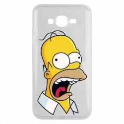 Чехол для Samsung J7 2015 Crazy Homer! - FatLine