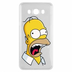 Чехол для Samsung J7 2016 Crazy Homer! - FatLine