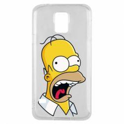 Чехол для Samsung S5 Crazy Homer! - FatLine