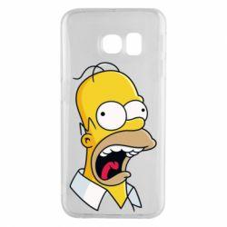 Чехол для Samsung S6 EDGE Crazy Homer! - FatLine