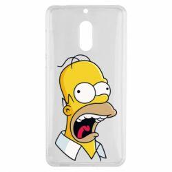 Чехол для Nokia 6 Crazy Homer! - FatLine