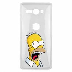 Чехол для Sony Xperia XZ2 Compact Crazy Homer! - FatLine