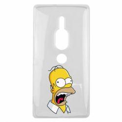 Чехол для Sony Xperia XZ2 Premium Crazy Homer! - FatLine