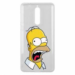 Чехол для Nokia 8 Crazy Homer! - FatLine