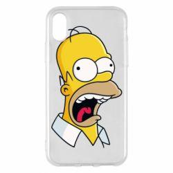 Чехол для iPhone X Crazy Homer! - FatLine