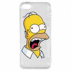 Чехол для iPhone5/5S/SE Crazy Homer! - FatLine