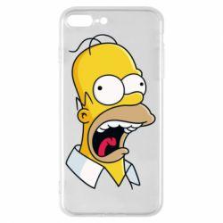 Чехол для iPhone 8 Plus Crazy Homer! - FatLine