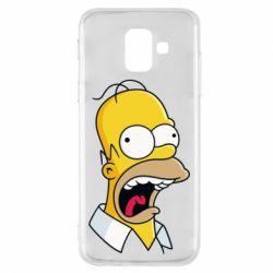 Чехол для Samsung A6 2018 Crazy Homer! - FatLine