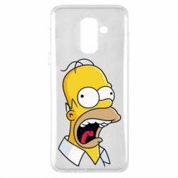Чехол для Samsung A6+ 2018 Crazy Homer! - FatLine