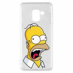 Чехол для Samsung A8 2018 Crazy Homer! - FatLine