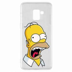 Чехол для Samsung A8+ 2018 Crazy Homer! - FatLine