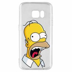 Чехол для Samsung S7 Crazy Homer! - FatLine