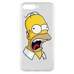 Чехол для Huawei Y6 2018 Crazy Homer! - FatLine