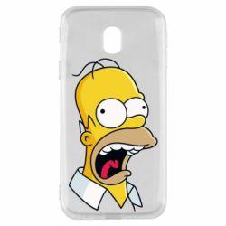 Чехол для Samsung J3 2017 Crazy Homer! - FatLine