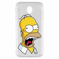 Чехол для Samsung J7 2017 Crazy Homer! - FatLine