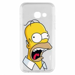 Чехол для Samsung A3 2017 Crazy Homer! - FatLine