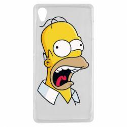 Чехол для Sony Xperia Z3 Crazy Homer! - FatLine
