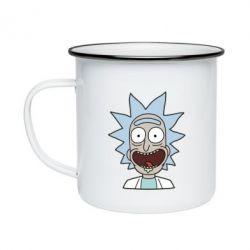 Кружка эмалированная Crazy Rick