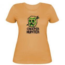 Женская футболка Creeper Hunter