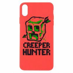 Чехол для iPhone Xs Max Creeper Hunter