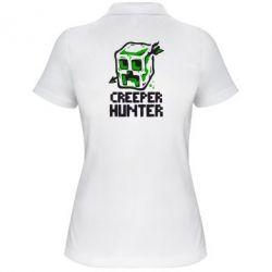 Женская футболка поло Creeper Hunter