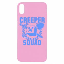Чехол для iPhone Xs Max Creeper Squad