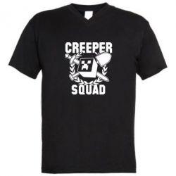Мужская футболка  с V-образным вырезом Creeper Squad - FatLine