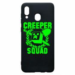 Чохол для Samsung A20 Creeper Squad