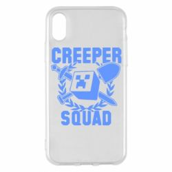 Чехол для iPhone X/Xs Creeper Squad