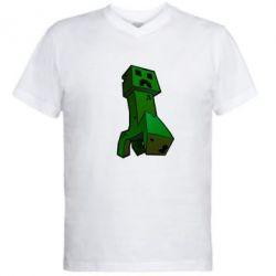 Мужская футболка  с V-образным вырезом Creeper - FatLine
