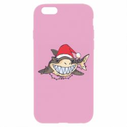 Чехол для iPhone 6 Plus/6S Plus Crhistmas Shark