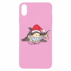 Чехол для iPhone X/Xs Crhistmas Shark