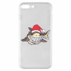 Чехол для iPhone 8 Plus Crhistmas Shark