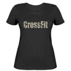 Женская футболка CrossFit камуфляж - FatLine