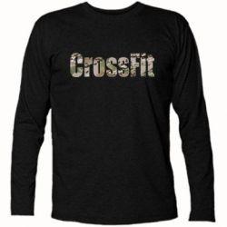 Футболка с длинным рукавом CrossFit камуфляж - FatLine