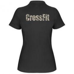 Женская футболка поло CrossFit камуфляж - FatLine