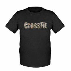 Детская футболка CrossFit камуфляж - FatLine