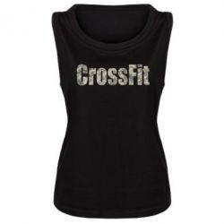 Женская майка CrossFit камуфляж - FatLine