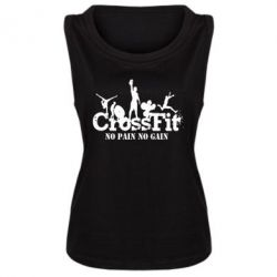 Женская майка Crossfit No pain No Gain - FatLine