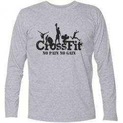 Футболка с длинным рукавом Crossfit No pain No Gain - FatLine