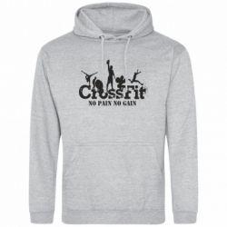 Мужская толстовка Crossfit No pain No Gain - FatLine