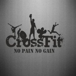 Наклейка Crossfit No pain No Gain - FatLine