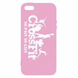 Купить Powerlifting, Чехол для iPhone5/5S/SE Crossfit No pain No Gain, FatLine