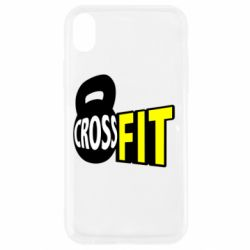 Чехол для iPhone XR CrossFit  с гирей