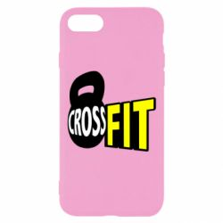 Чехол для iPhone 7 CrossFit  с гирей