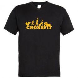 Мужская футболка  с V-образным вырезом Crossfit - FatLine