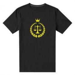 Купить Юристам, Мужская стрейчевая футболка Crown for a lawyer, FatLine