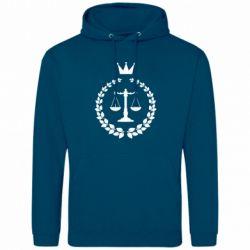 Мужская толстовка Crown for a lawyer
